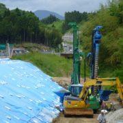 高速道路で盛土の排水対策